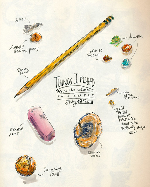Sketchbook #107: Treasures from the Washing Machine