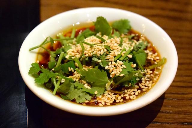 DIY Dipping Sauce at Hot Pot, Chinatown | www.rachelphipps.com @rachelphipps