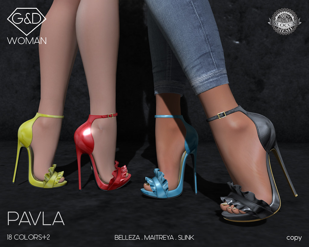 G&D Shoes Pavla adv - SecondLifeHub.com