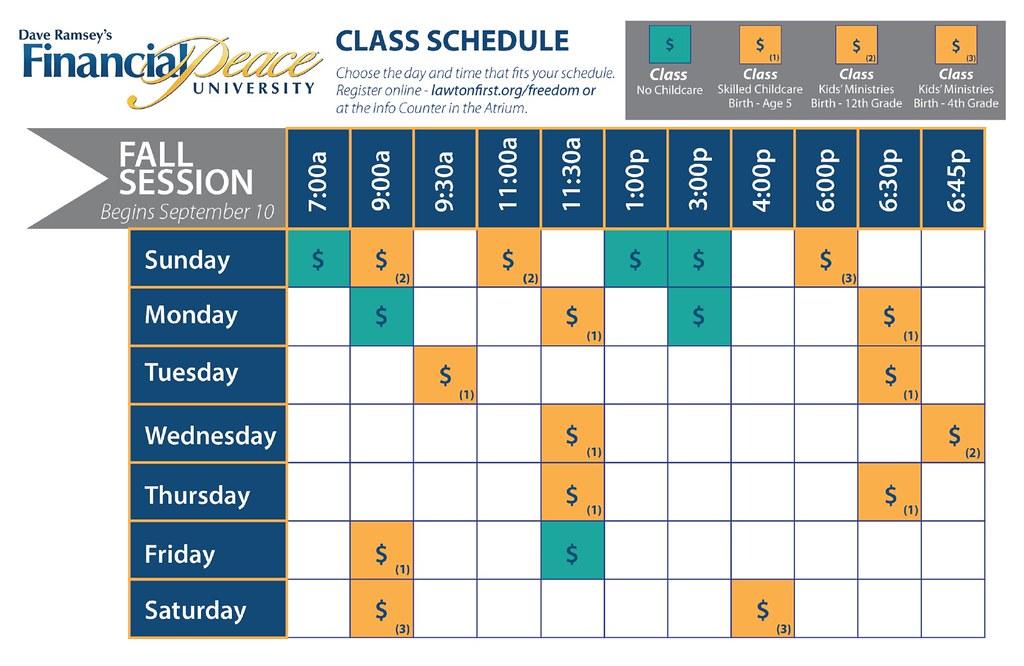 FPU Schedule