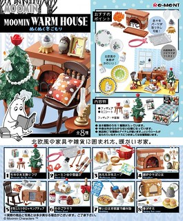 RE-MENT 《嚕嚕米》溫暖的房子(冬天的溫暖)篇 MOOMIN WARM HOUSE ぬくぬく冬ごもり