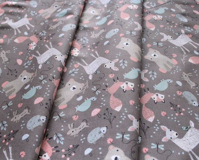 3 Wishes Fabric Little Ones 12054-Gray