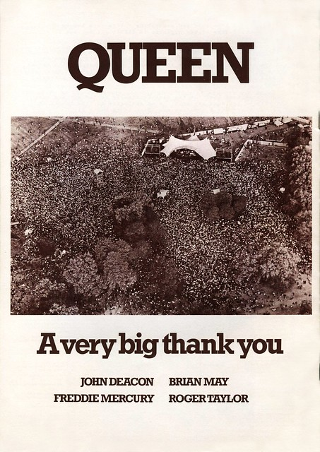 """A VERY BIG THANK YOU"" - 1976"