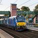 Class 68, 68026 & 68001 'Evolution' work 6K73 Sellafield B.N.F. to Crewe Coal sidings through Leyland station 30.08.2017
