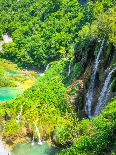 Aerial View Of Plitvice Lakes Croatia