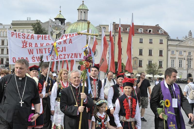 Wyjście XXXVII Pieszej Pielgrzymki Krakowskiej na Jasną Górę, 6 VIII 2017 r.
