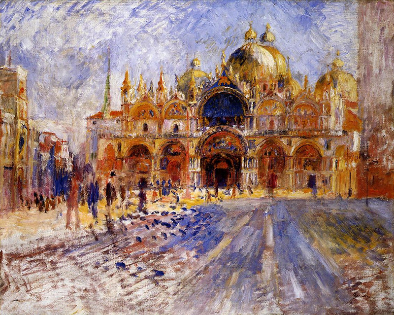 The Piazza San Marco, Venice by Pierre Auguste Renoir, 1881