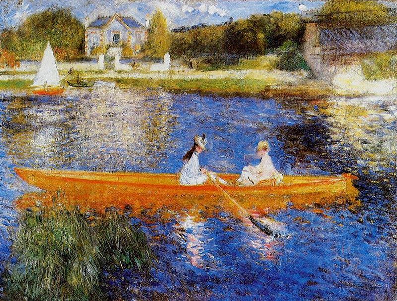 The Seine at Asnieres by Pierre Auguste Renoir, 1879