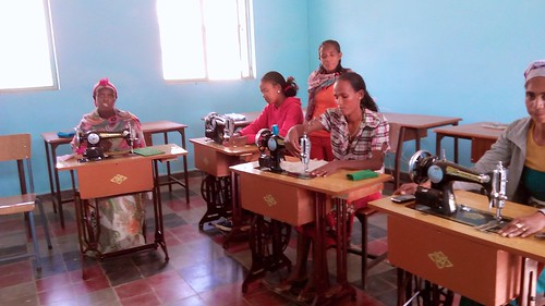 Embrodiery classes on the sewing machines at the Women's Empowerment Project