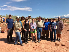 Instructors and interns at Mail Station Site near Moab