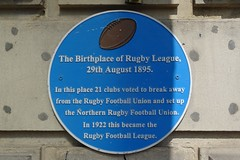 Photo of Rugby Football League blue plaque