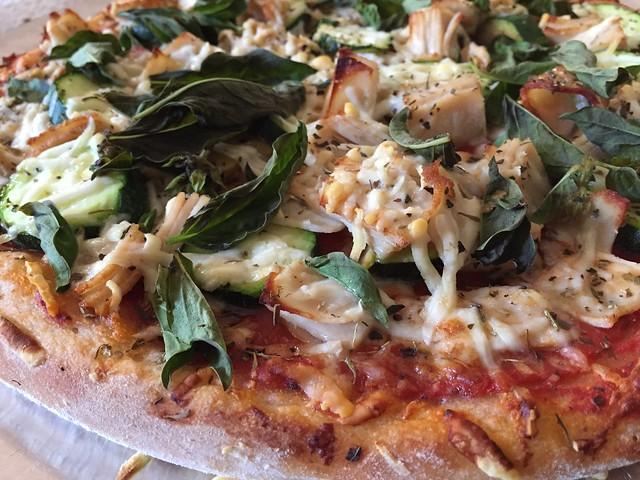 Turkey/Zucchini/Tofu Pizza