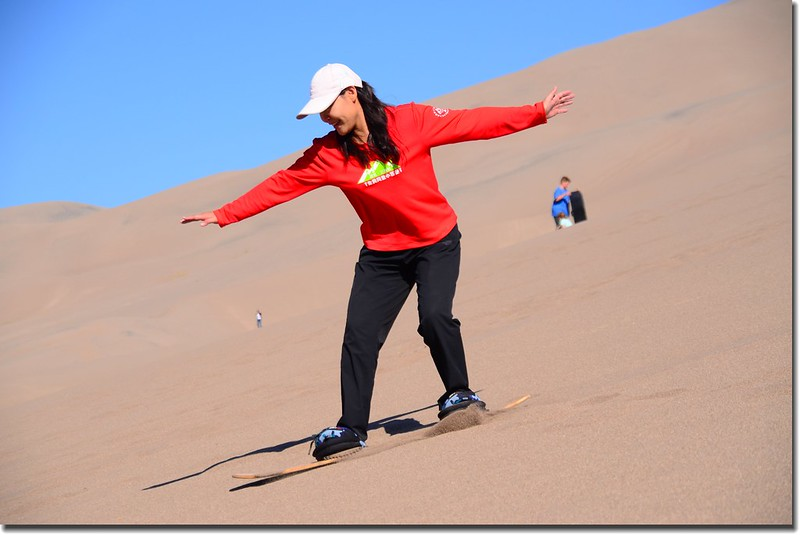 Sledding at Great Sand Dunes  (3)