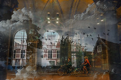 Tus ventanas descubren luces vol�tiles, mapas imaginarios. #art #fineart #landscape #urban #cicle #bike #amsterdam #city #imagine #moments #relax #urban #conceptual #surrealism
