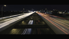 Light trails in LBJ Highway - Dallas, TX