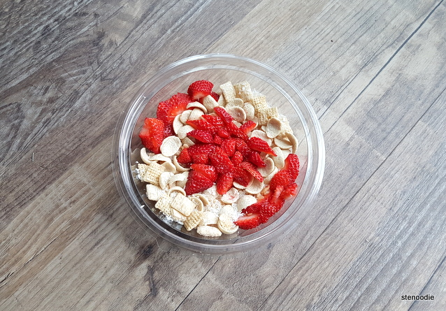 Canadian flag cereal bowl