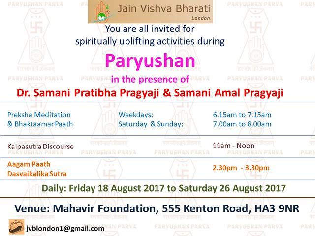 2017.08.18 JVB London Events during Paryushan