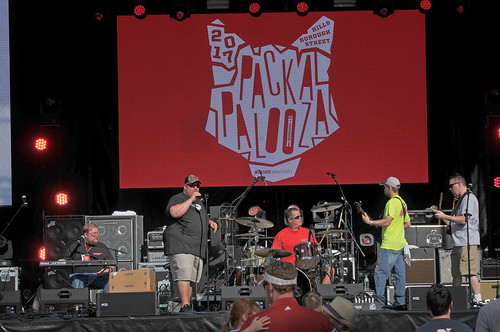 Southbound 85 performs on the Belltower stage at Packapalooza.