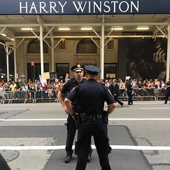 #police #nypd #protest #harrywinston #5thavenue #trumpprotest #nyc #blue