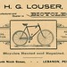 H. G. Louser, Manufacturer and Dealer in Bicycles, Lebanon, Pa., 1892