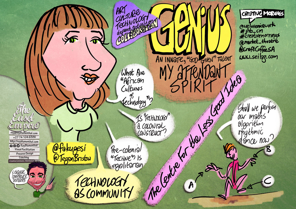 My #sketchnotes of @TeganBristow — Genius — #CreativeMornings #jhb_cm @welovenicework