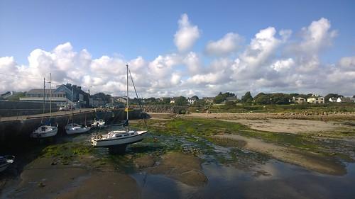 barna galway boats pier bridge arch village cameraphone ireland lumia1020 cloud reflection