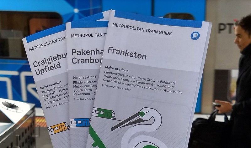 Metro train guides (timetables) August 2017