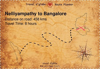 Map from Nelliyampathy to Bangalore