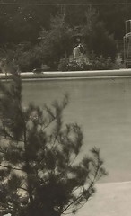 NW Harbor Springs MI RPPC c.1920 POOL AREA Harbor Point Founded 1870s THE LITTLE HARBOR CLUB Private RESTRICTED & Exclusive Club for Wealthy Summer Residents GREAT GATSBY ERA6
