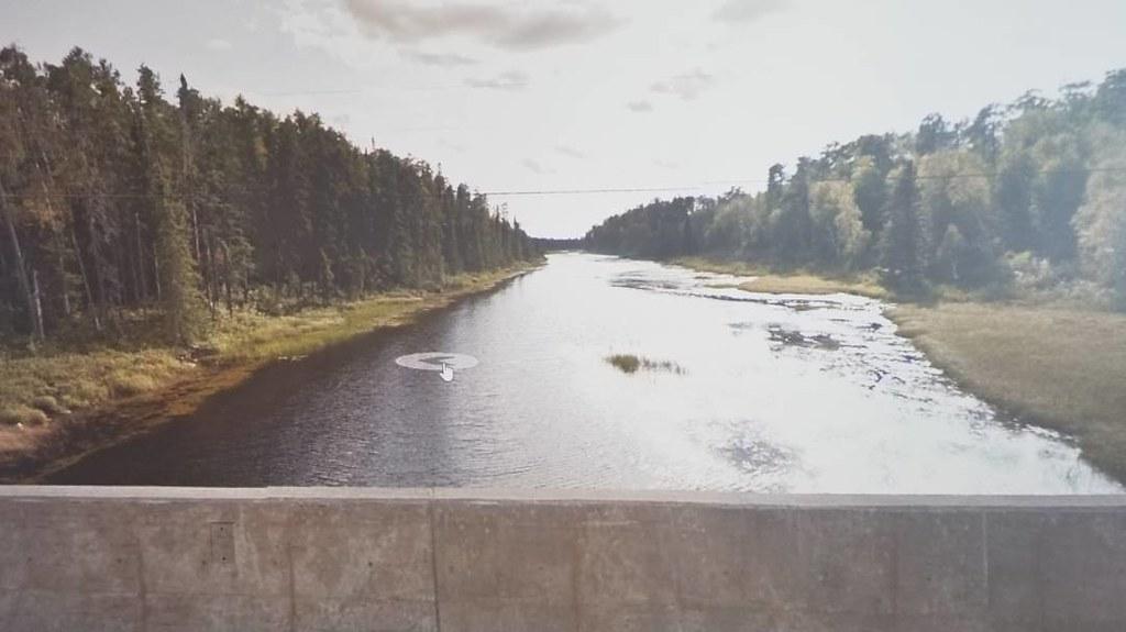 Gulliver River, ON. #ridingthroughwalls #xcanadabikeride #googlestreetview #ontario