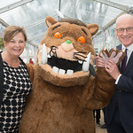 Cabinet Minister Fiona Hyslop and Deputy First Minister John Swinney meet The Gruffalo  