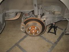 2005-2010 Honda Odyssey Rear Disc Brakes - Changing Pads - Rotor, Caliper & Bracket