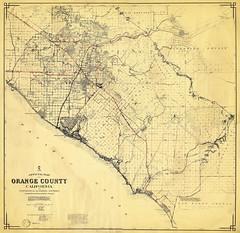 Orange County map, 1958