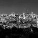 Mont royal Montreal by night B&W