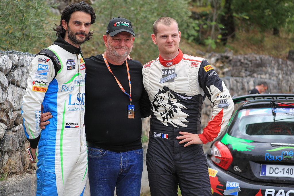 18 CONSANI Robert (FRA) CHIAPPE Patrick (FRA) Citroen DS3 R5 17 CONSANI Stephane (FRA) SALMON Valentin (FRA) Ford Fiesta R5 portrait during the 2017 European Rally Championship ERC Rally di Roma Capitale,  from september 15 to 17 , at Fiuggi, Italia - Photo Jorge Cunha / DPPI
