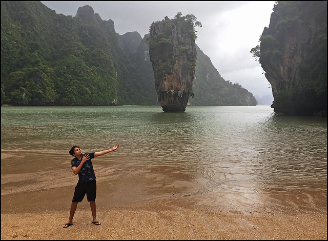 My Boy at James Bond Island