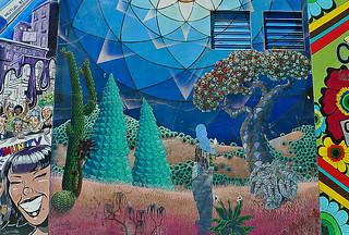 Mural in the City - Clarion Alley Cactus