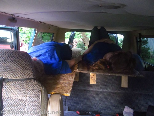 Both van bunkbeds in use