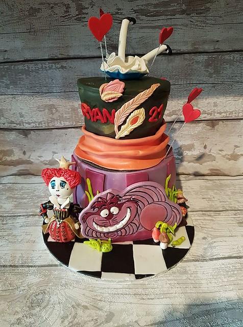 Alice in Wonderland Themed Cake by Hazel Clark of Sinfully Sweet