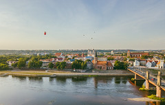 Hot air balloons over Kaunas old town | Aerial #230/365