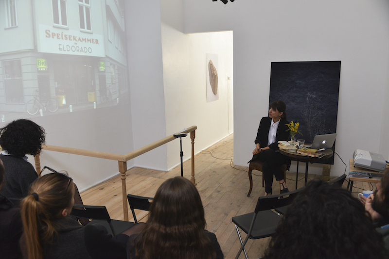 "Lecture-performance by Özgül Kılınçarslan "" Two writers, one squere, Nollendorfplatz"" , April, 2017"