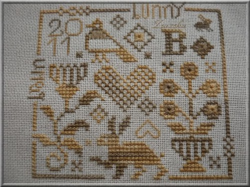 Ewe and Eye and Friends , cross stitch, easter