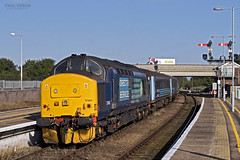37405 trails from Great Yarmouth working 2P13 0917 Norwich 31/8/2017