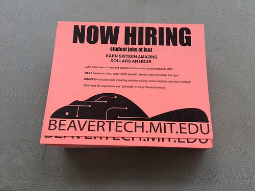 Now hiring MIT students!