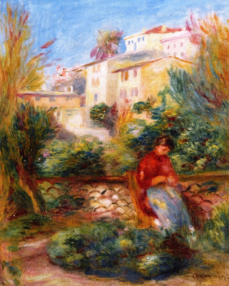 The Terrace at Cagnes by Pierre Auguste Renoir, 1908