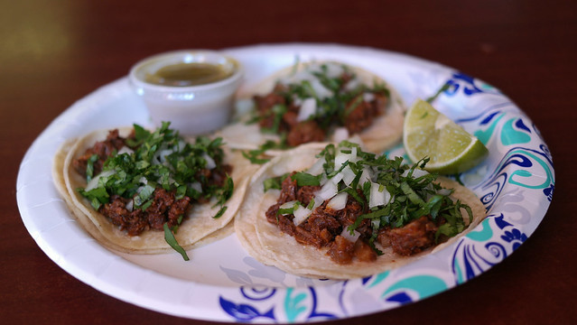 Shredded Beef Tacos from La Ventura Taqueria in Des Moines, Iowa