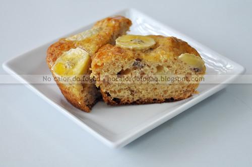 Pão de banana com golden syrup - pequeno e cortado