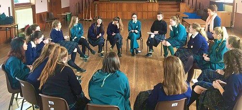 It is very nice to see the students of St Louis Monaghan and St Louis Carrickmacross come together to engage in team building exercises ahead of their visit together to complete the final stage of the Camino de Santiago