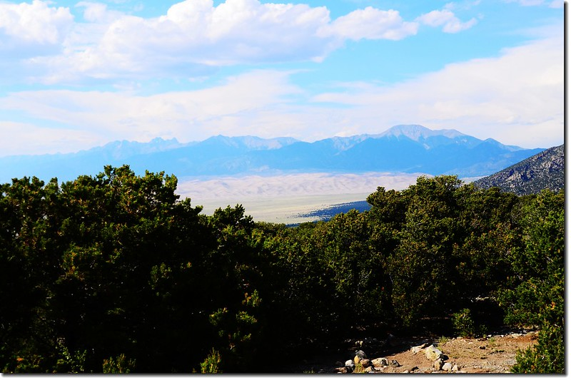 Overlooking Great Sand Dunes from  Zapata Falls parking lot