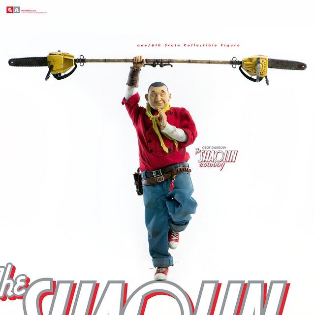 細節漫畫大師傑作立體化!! threeA X Geof Darrow 沈默的武僧【少林牛仔】The SHAOLIN Cowboy 1/6 比例人偶作品